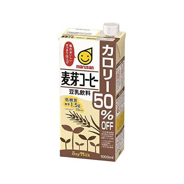マルサン 豆乳飲料麦芽コーヒー カロリー50%オ...の商品画像