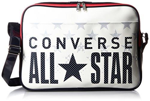 [コンバース] ショルダーバッグ エナメルショルダー Lサイズ C1600052 1129 ホワイト/ネイビー