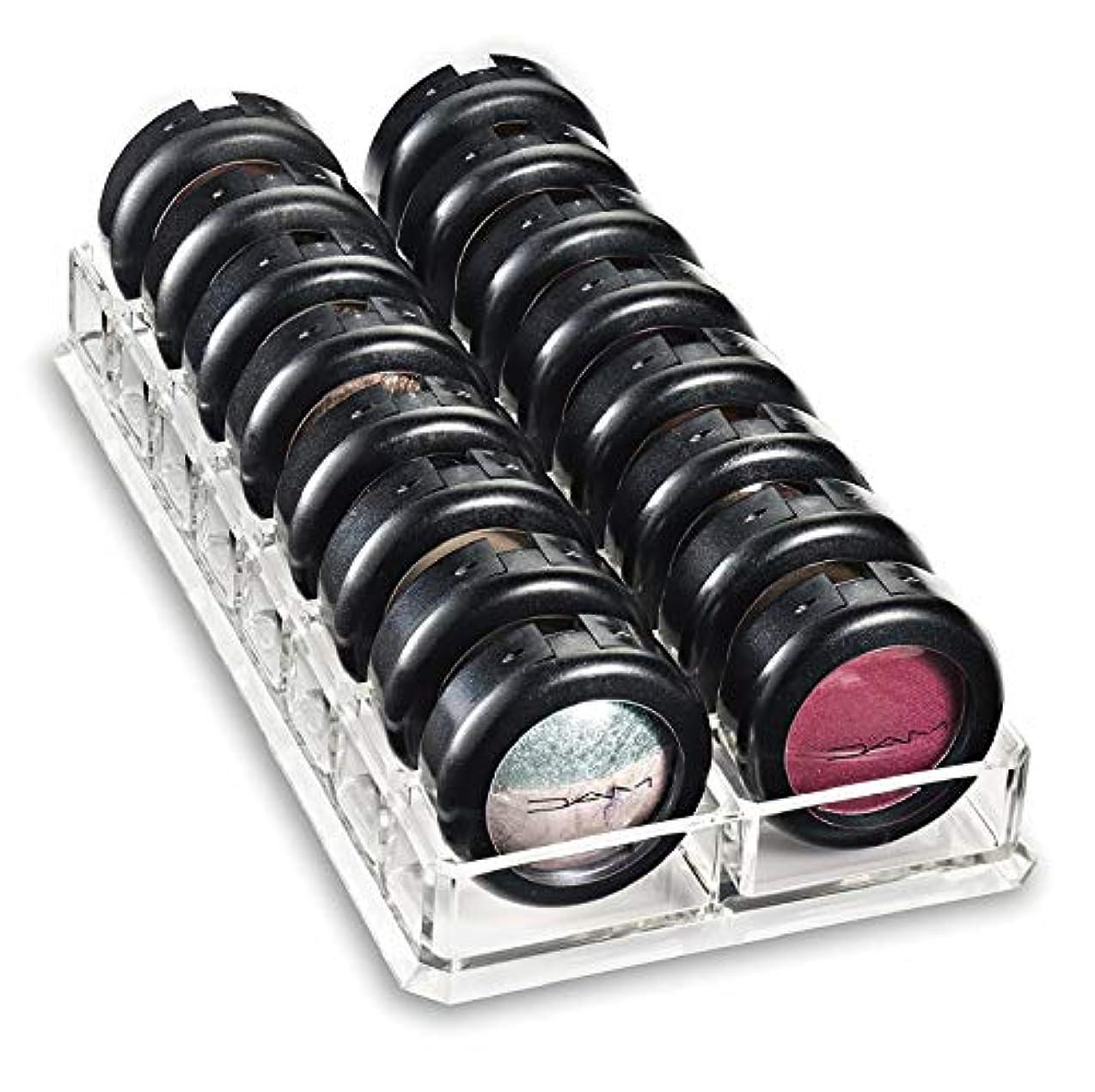 オフェンス前投薬蓋ColorfylCoco(カラフィルココ) アイシャドウホルダー コスメ収納 アイシャドー ホルダー 16仕切り アクリルケース クリアケース 卓上 メイクボックス 口紅 香水 メイク 小物入れ 収納 スタンド