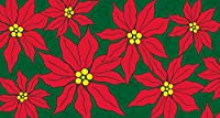 TolandホームガーデンPretty Poinsettias 20x 38インチ装飾クリスマス花アンチ疲労快適マット
