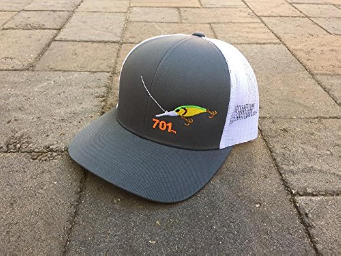 どちらか反射列挙するNorth Dakota Trucker Hat Crankbait釣り701エリアコード帽子(グラファイト)