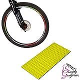 自転車BMX車リムホイールステッカーテープReflectors – ネオンゴールド