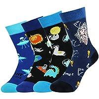 4 Pack Kids Boys Novelty Socks Funny Cute Animal Food Alien Colorful Crew Socks