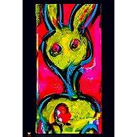 ペリスコープBunnys Mamma by Grand Theft Rabbit Hole nonflocked Blacklightアートプリントポスター24 x 36インチ