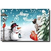 Merry Christmas Santa Claus and Snowman Door Mats Rug Non-Skid Slip Rubber Doormats 23.6 x15.7inch [並行輸入品]