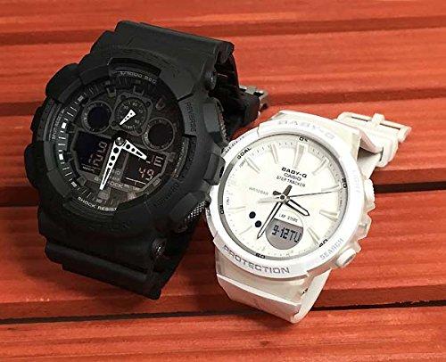 カシオCASIO 腕時計 G-SHOCK&BABY-G ペアウォッチ 純正ペアケース入り ジーショック&ベビージー 2本セット ブラック 黒 ホワイト GA-100-1A1JF BGS-100-7AJF
