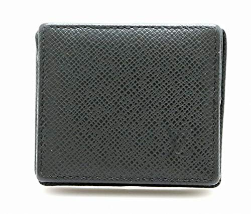 [ルイ ヴィトン] LOUIS VUITTON タイガ ポルトモネ ボワット コインケース 小銭入れ アルドワーズ 黒 ブラック M30382