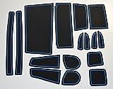 KINMEI(キンメイ) ダイハツ ムーヴ MOVE LA150S/LA160S現行型 青 専用設計 インテリア ドアポケット マット ドリンクホルダー 滑り止め ノンスリップ 収納スペース保護 ゴムマット 軽トールワゴンecu-b