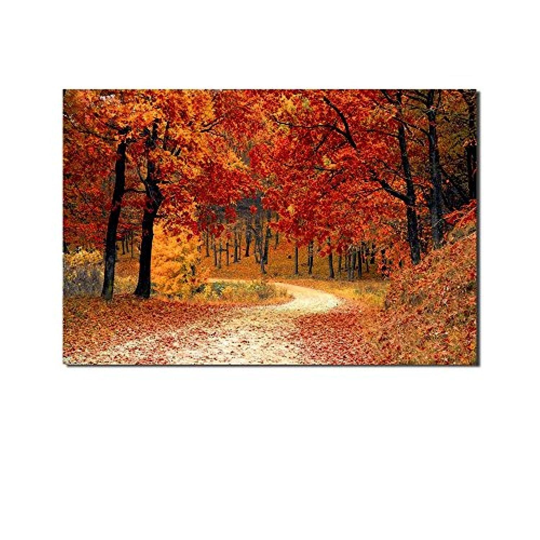 レモンツリーART 紅葉 秋 自然風景 ポスター 壁写真 海の写真 自然 風景画 地  インテリア装飾品 壁飾り 壁掛け絵画 部屋飾り、新築お祝いに最適(90x60cmx1枚)