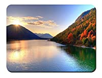 秋の湖の美しさ パターンカスタムの マウスパッド 旅行 風景 景色 (22cmx18cm)
