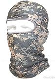 迷彩 バラクラバ アーミー カモフラージュ 目出し帽 タクティカル フェイスマスク ミリタリー フル マスク 防寒 ヘッドウェア ヘルメット インナー ~サバイバルゲーム・自転車・BMX・バイク・アウトドア ~ QNM Type (ACU)