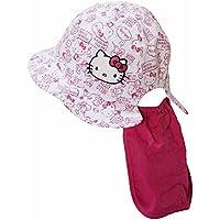 ハローキティ 日よけ付き帽子 HELLO KITTY 夏物 おでかけ サンリオ fpo-tk9828 48cm ピンク