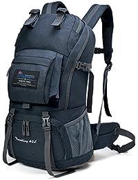 Mountaintop 登山リュック40L 防撥水 リュックサック アウトドアバッグ ザック 旅行 ハイキング クライミング バックパック デイバック リュック レインカバー付き