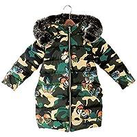 Girls Winter Jacket Camouflage Long Parka Coat Kids Warm Down Jacket Girls Winter Coat Children Jacket Clothes 3 4 5 6 7 8 10 12 14 Y Teenagers