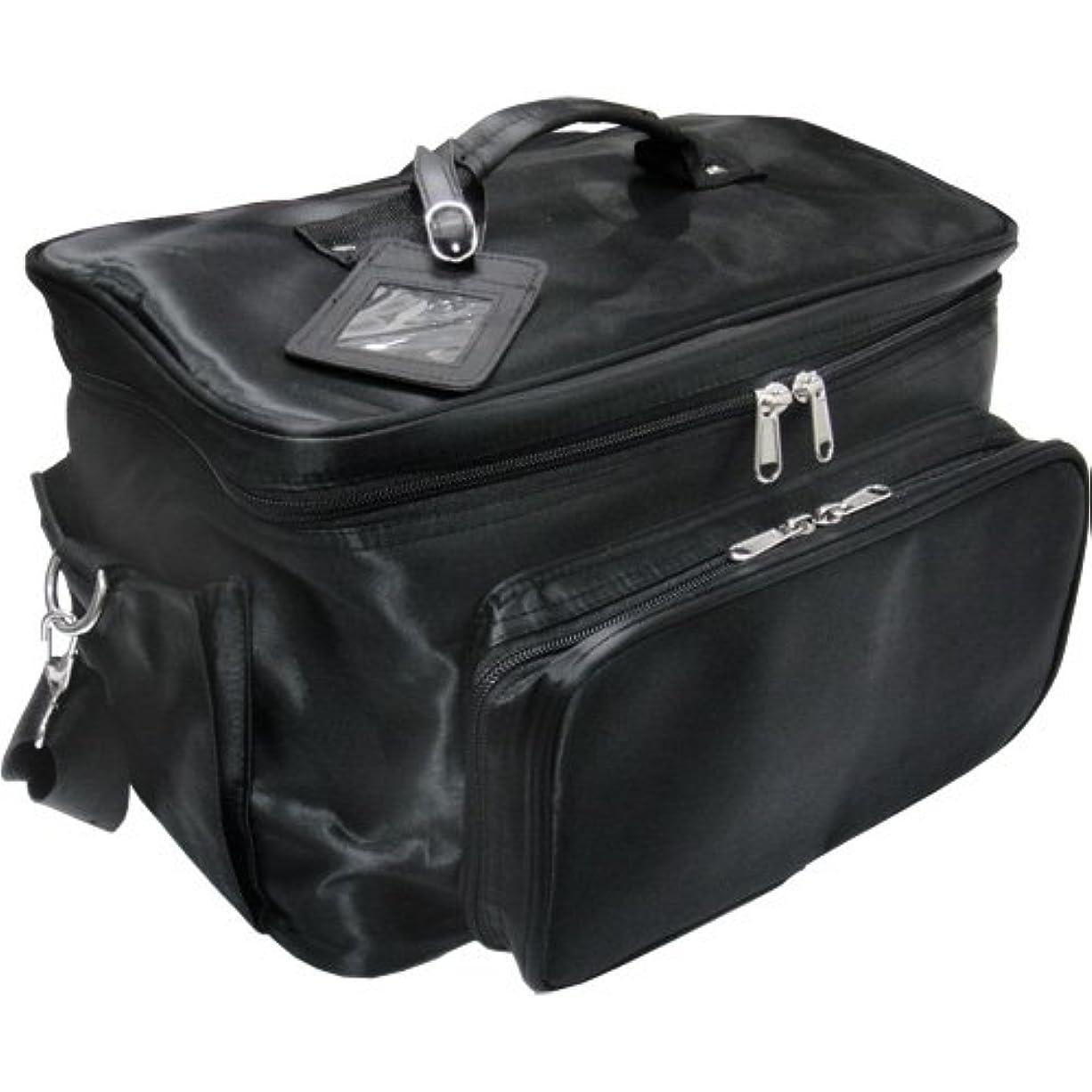 バッチジム失う軽量バニティーバック ブラック コスメバッグ、ネイルバッグ、ネイリストバッグ、ナイロンコスメボックス