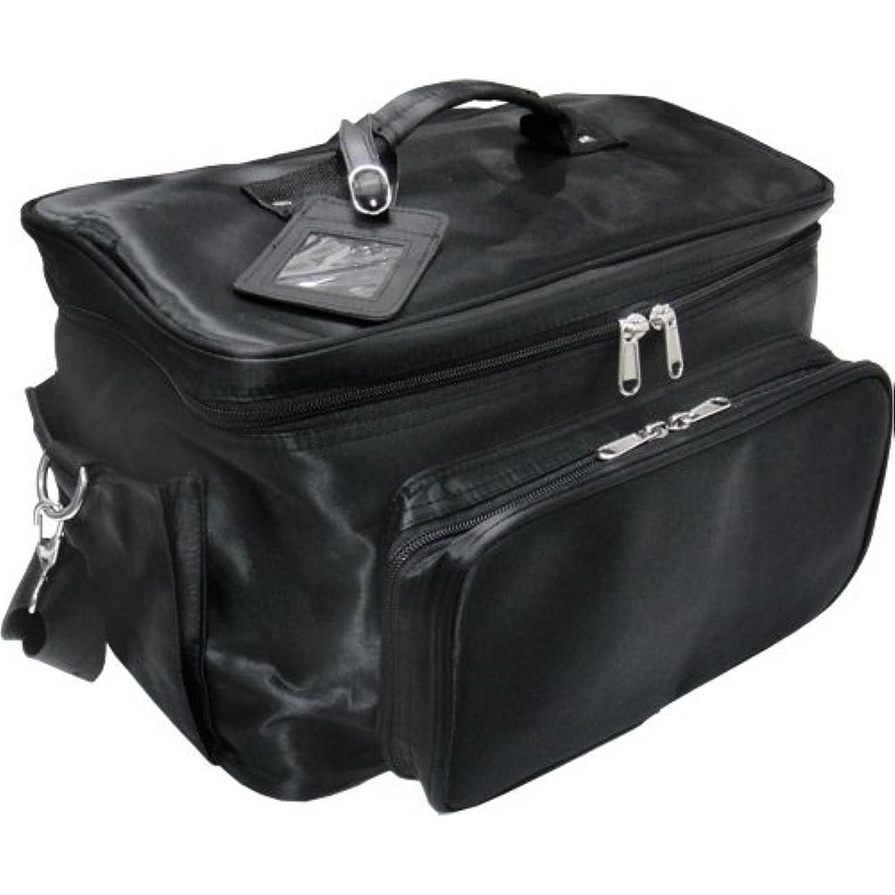 肌ますます応じる軽量バニティーバック ブラック コスメバッグ、ネイルバッグ、ネイリストバッグ、ナイロンコスメボックス