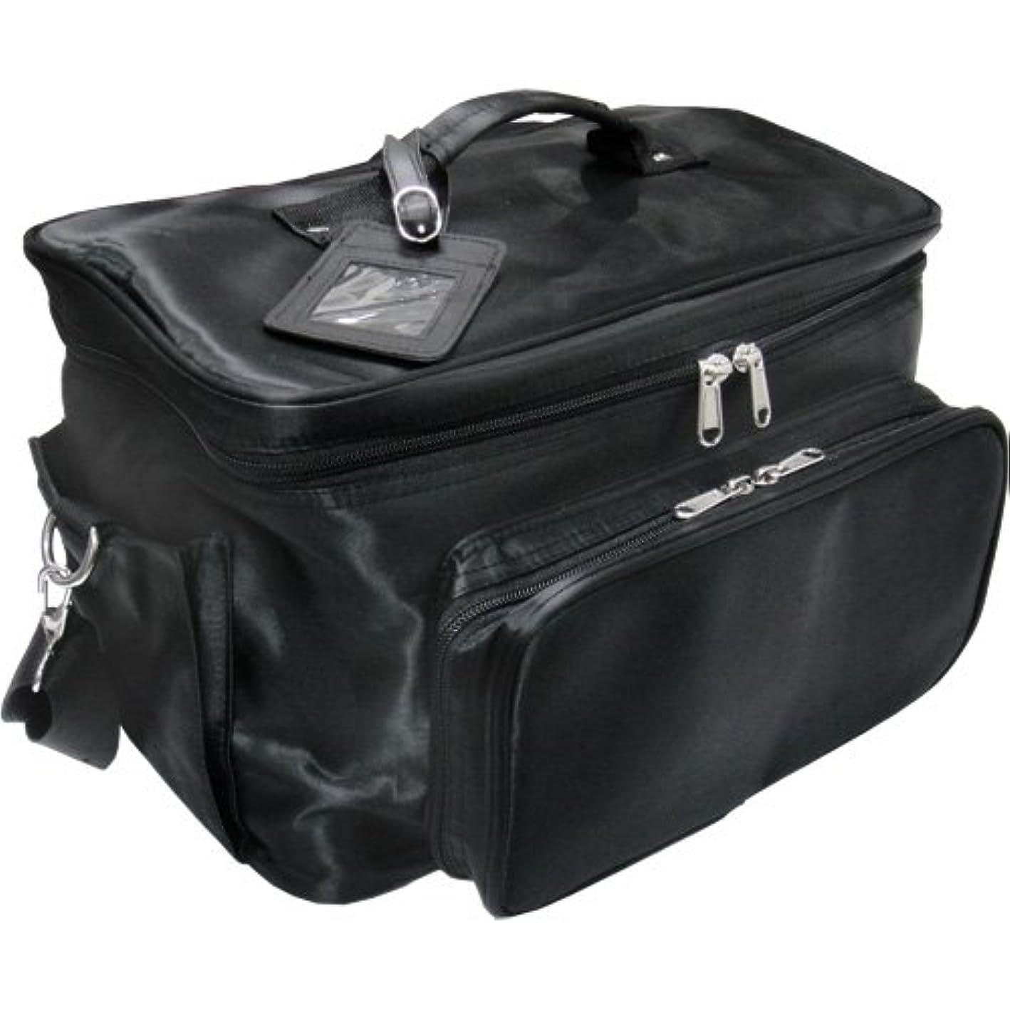 フォーカス届けるマイク軽量バニティーバック ブラック コスメバッグ、ネイルバッグ、ネイリストバッグ、ナイロンコスメボックス