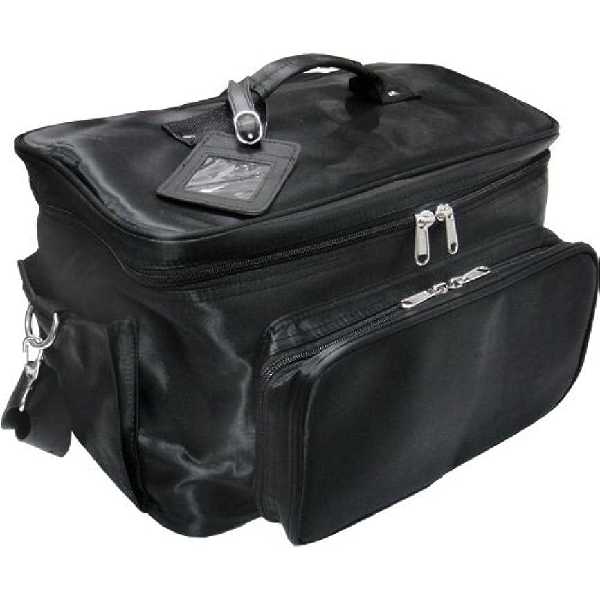 スカープしなやかパステル軽量バニティーバック ブラック コスメバッグ、ネイルバッグ、ネイリストバッグ、ナイロンコスメボックス