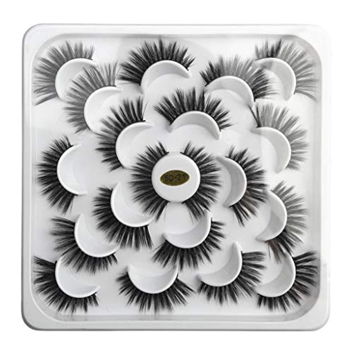 温室思想ハグ5Dミンクつけまつげと天然のまつげと10対の蓮