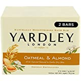 Yardley London Oatmeal and Almond Naturally Moisturizing Bath Bar, 4.25 oz, 2 Count