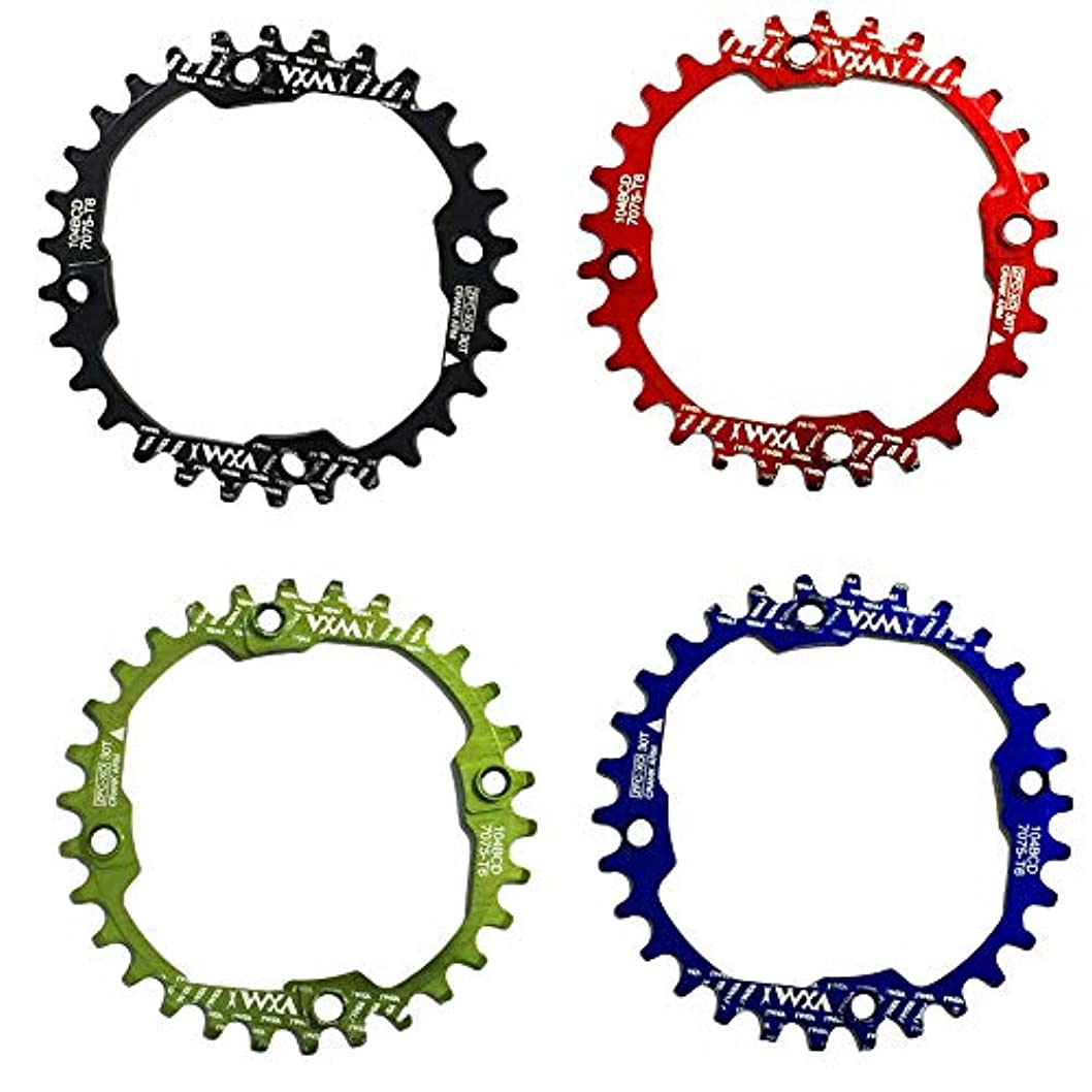 リットルプリーツループPropenary - 1PC Bicycle Chainwheel Crank 30T 104BCD Aluminum Alloy Narrow Wide Chainring Round Bike Chainwheel Crankset Bicycle Parts [ Green ]