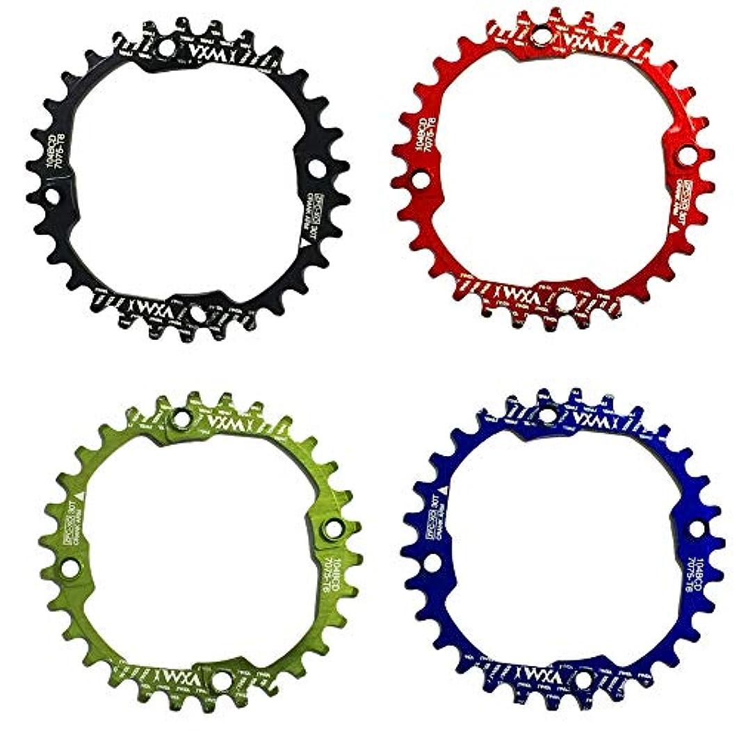 レオナルドダいつも異形Propenary - 1PC Bicycle Chainwheel Crank 30T 104BCD Aluminum Alloy Narrow Wide Chainring Round Bike Chainwheel...