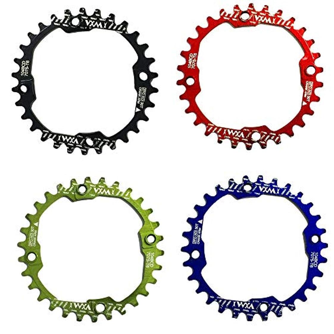 傾斜滑る現在Propenary - 1PC Bicycle Chainwheel Crank 30T 104BCD Aluminum Alloy Narrow Wide Chainring Round Bike Chainwheel Crankset Bicycle Parts [ Green ]