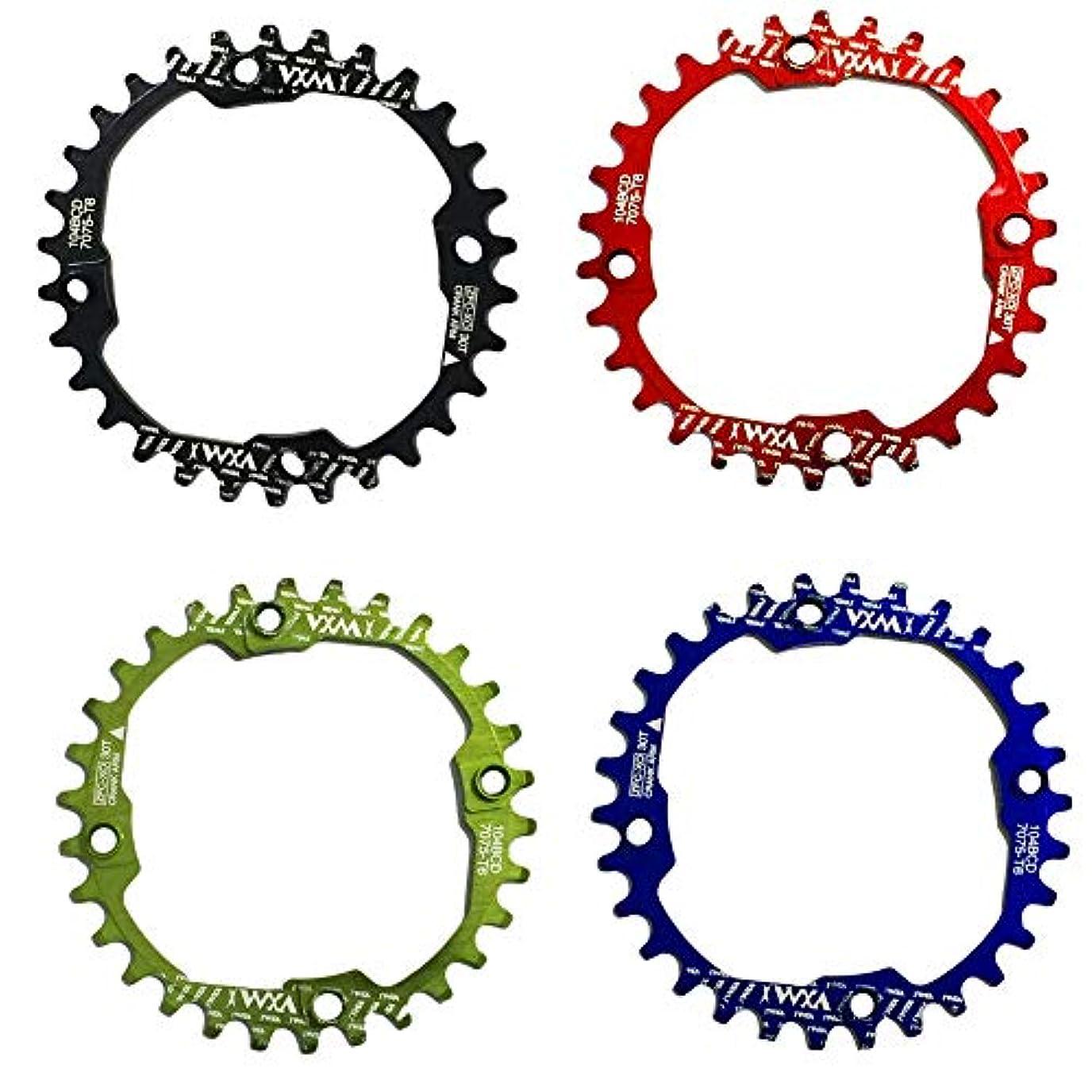小売ナイロン育成Propenary - 1PC Bicycle Chainwheel Crank 30T 104BCD Aluminum Alloy Narrow Wide Chainring Round Bike Chainwheel Crankset Bicycle Parts [ Red ]