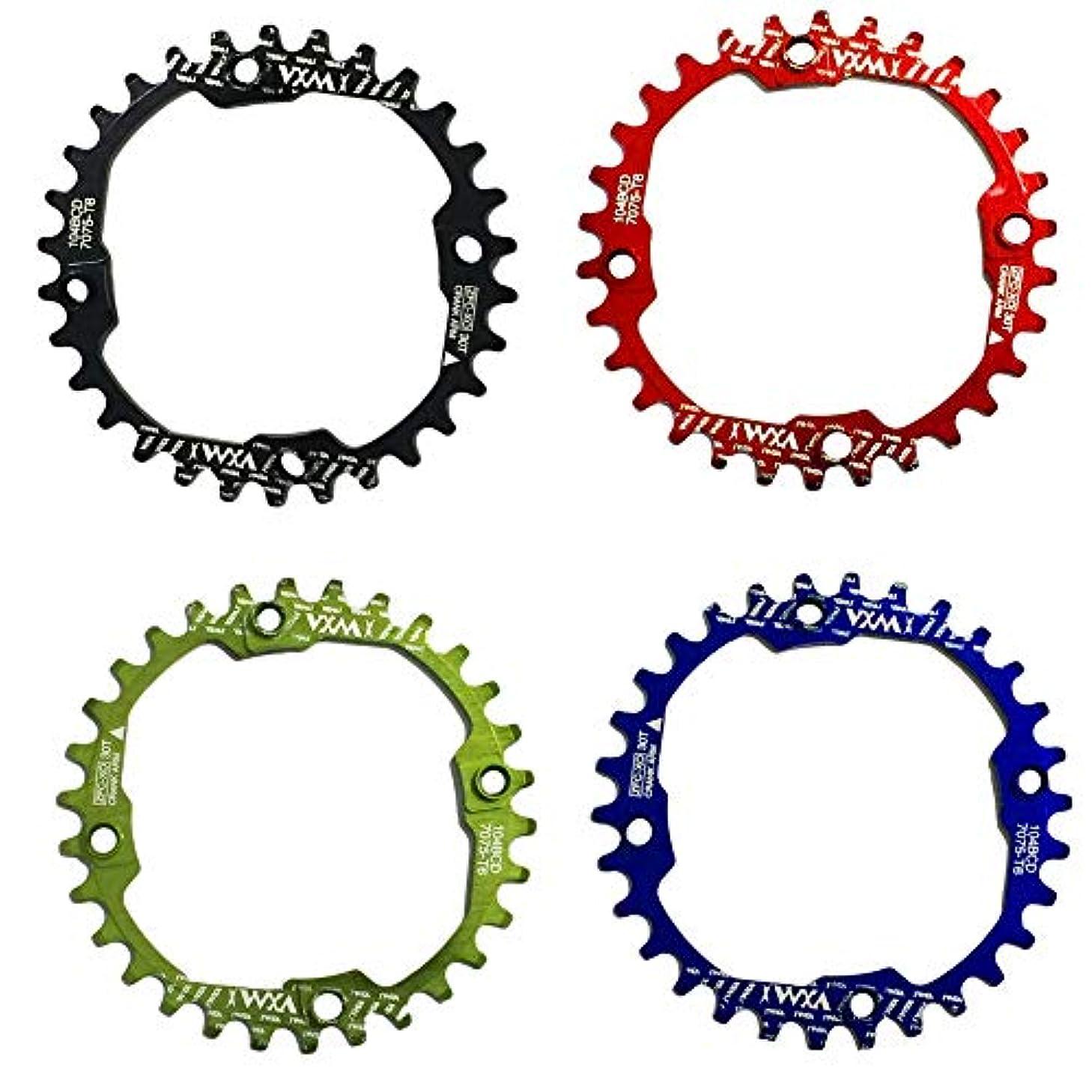 レシピシガレット温帯Propenary - 1PC Bicycle Chainwheel Crank 30T 104BCD Aluminum Alloy Narrow Wide Chainring Round Bike Chainwheel Crankset Bicycle Parts [ Blue ]