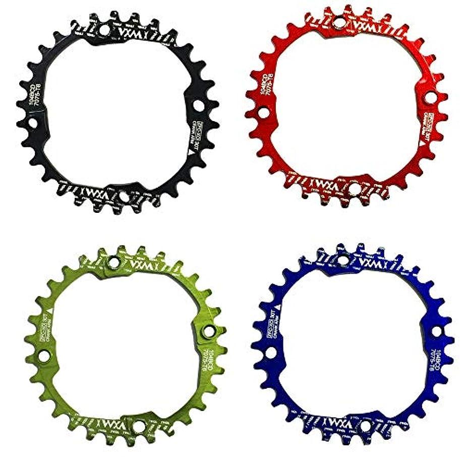 脅威許可滞在Propenary - 1PC Bicycle Chainwheel Crank 30T 104BCD Aluminum Alloy Narrow Wide Chainring Round Bike Chainwheel Crankset Bicycle Parts [ Red ]