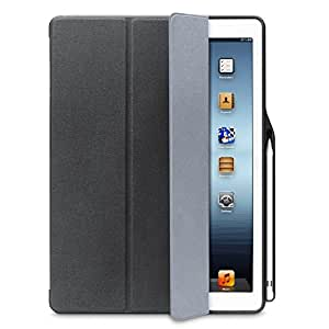 iPad Pro 12.9 ケース 2017新型 Apple Pencil収納 スタンド機能 iVAPO 12.9インチ iPad Pro 保護カバー シンプル 三つ折タイプ 全面保護型 傷つけ防止 iPad Pro12.9手帳型ケース PU 便利なペンホルダー付き New iPad Pro 12.9 Case 2015モデル、2017モデル適用 全3色 (iPad Pro 12.9, ブラック)