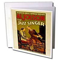 Florene ヴィンテージ 音楽 - ジャズシンガーの広告 アル・ジョルソン付き - グリーティングカード Set of 6 Greeting Cards