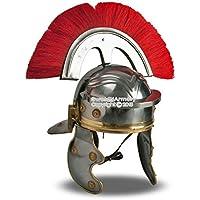 Medieval歯車ブランドRomanウェアラブルImperial Gallic CenturionヘルメットW / Red Crest &ライナーLARP SCA