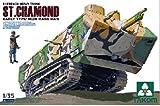 TAKOM 1/35 第一次世界大戦 フランス戦車 ST.シャモン 前期型 プラモデル