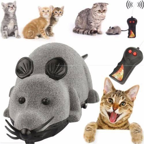 猫じゃらし ペット用おもちゃ 運動不足解消 犬猫玩具 ネズミ型 (グレー)...