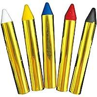 バイヤーズ ハッピー ハロウィン ボディ クレヨン 顔 や 身体 に ペイント できる 発色 が きれい な ベーシック 5色 セット