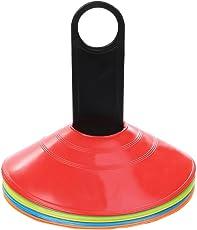 Perfectgoingマーカーコーン ディスクコーン サッカー カラーコーン フットサル 用品 5色 10枚