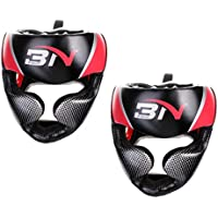 monkeyjack 2pcsテコンドーキックボクシングヘルメットヘッドギアヘッドガード格闘技スパーリングトレーニングSparring Gear面プロテクター