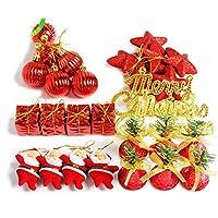 Ochine クリスマス オーナメント 豪華 飾り デコレーション ボール 北欧風 インテリア クリスマスツリー 飾り 雑貨 新年飾り クリスマスプレゼント キラキラ 28個 セット