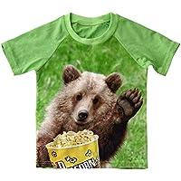 FLORICA Little Boys T-Shirt T Rex Short Sleeve Crewneck Cotton Tee Shirt 1+6 Years