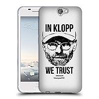 オフィシャル Liverpool Football Club フルフェイス・ホワイト Jurgen Klopp イラストレーション HTC One A9 専用ソフトジェルケース