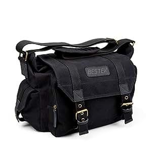 BESTEK 一眼レフ カメラバッグ レンズ保護用インナーボックス付き 防水仕様 アウトドア撮影に適用 camera bag BTDB01 (黒)