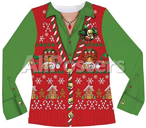 [Mサイズ]アグリー ダサい クリスマス セーター ベスト ニット チョッキ 女性用 クリスマス ギフト プレゼント コスプレ コスチューム 衣装 [並行輸入品]