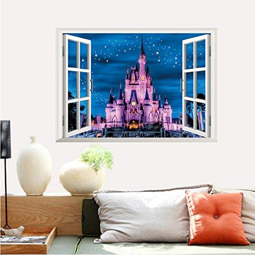 【ディズニ― プリンセス シンデレラ城ウインドタイプ】 Disney Princess  Disney castlesウォールステッカー ウォール ステッカー ポスター シール 北欧 激安 貼って はがせる 壁紙 壁シール 子供部屋【CG