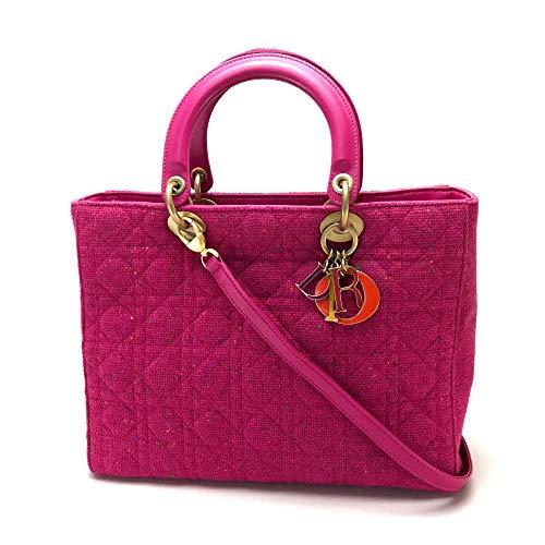 (クリスチャンディオール)Christian Dior レディディオール カナージュ ハンドバッグ ショルダーバッグ 2wayバッグ ツイード レディース 中古