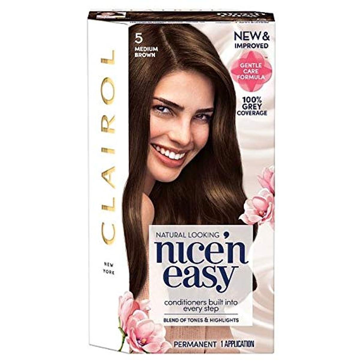 名詞アルプス関係ない[Nice'n Easy] クレイロール「素敵Nは簡単にミディアムブラウン5ヘアダイ - Clairol Nice 'N Easy Medium Brown 5 Hair Dye [並行輸入品]