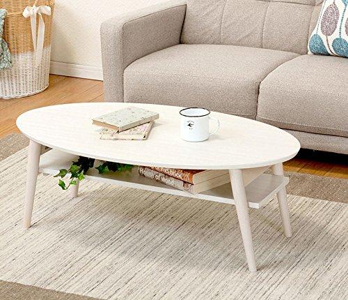 テーブル ローテーブル オーバル 楕円 折れ脚テーブル 折り...