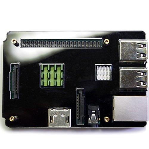 『waves Raspberry Pi 3 Model B 用 ケース ヒートシンク 3点付 Pi2 共用 国内発送 黒』の1枚目の画像