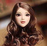 【Z&L・DOLL】1/6 ヘッド パーツ ガール 女性 頭 目が動ける 塗装済 アクセサリアクションフィギュア 素体用 (ブラウン・髪)