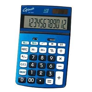 GENTOS(ジェントス) G-Touch 12桁表示 風水カラーデザイン電卓(ナイスサイズタイプ) メタリックブルー DX-160TBL